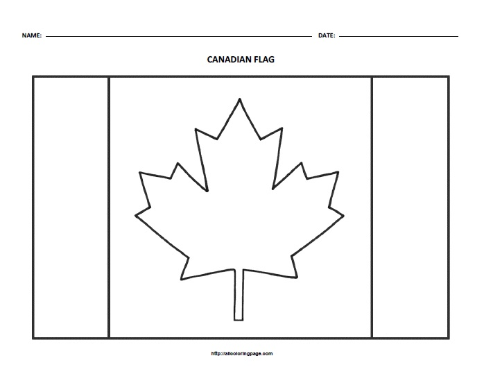 Free Printable Flag of Canada Coloring Page