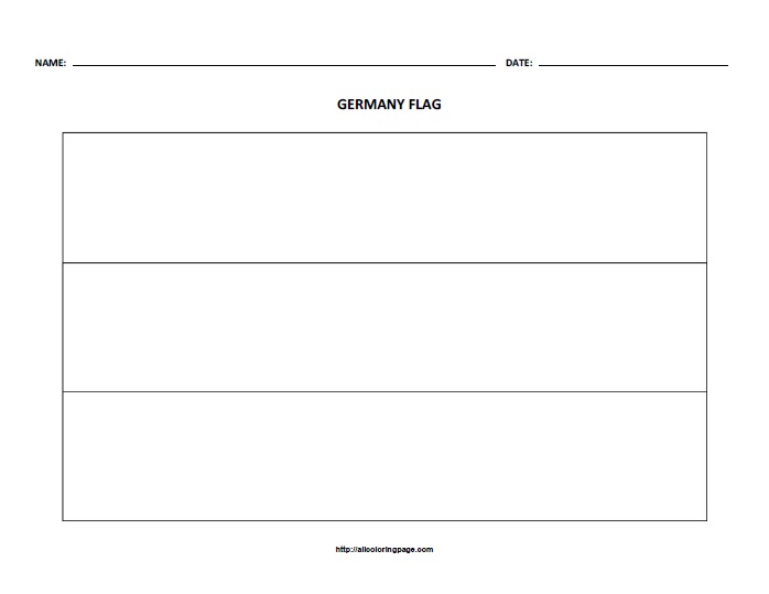 Free Printable Flag of Germany Coloring Page