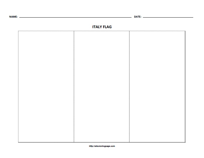 Free Printable Flag of Italy Coloring Page