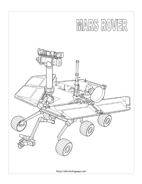 Free Printable Mars Rover Coloring Page