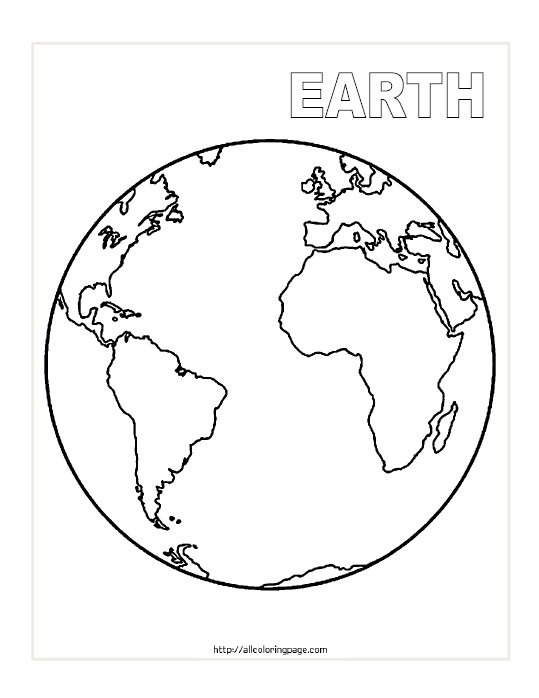 Free Printable Planet Earth Coloring Page