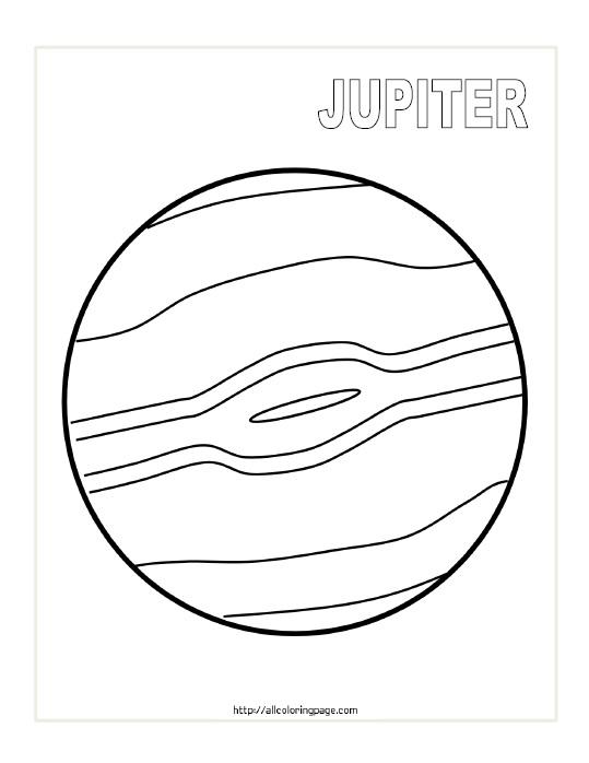 Free Printable Planet Jupiter Coloring Page
