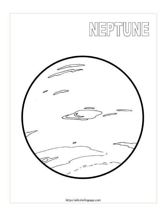 Free Printable Planet Neptune Coloring Page
