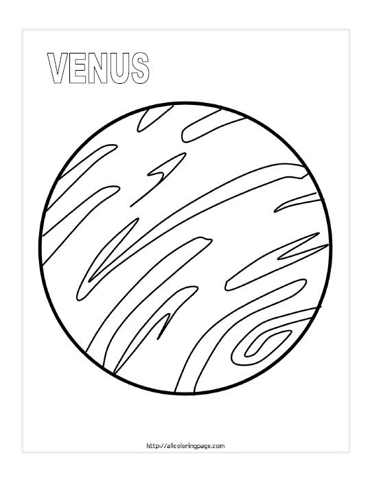 Free Printable Planet Venus Coloring Page