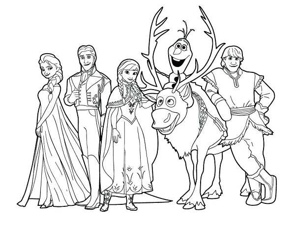 Sven Coloring Page - Olaf and Sven Foto (36145922) - Fanpop | 463x600