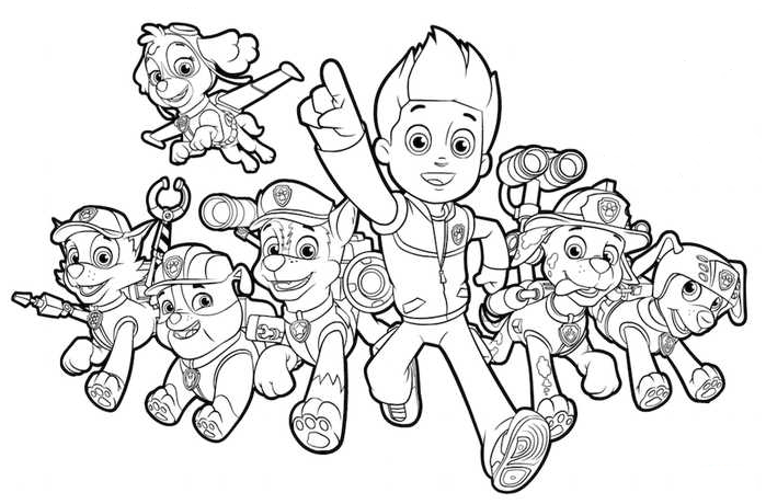 - Paw Patrol Coloring Pages Free Printable Coloring Page