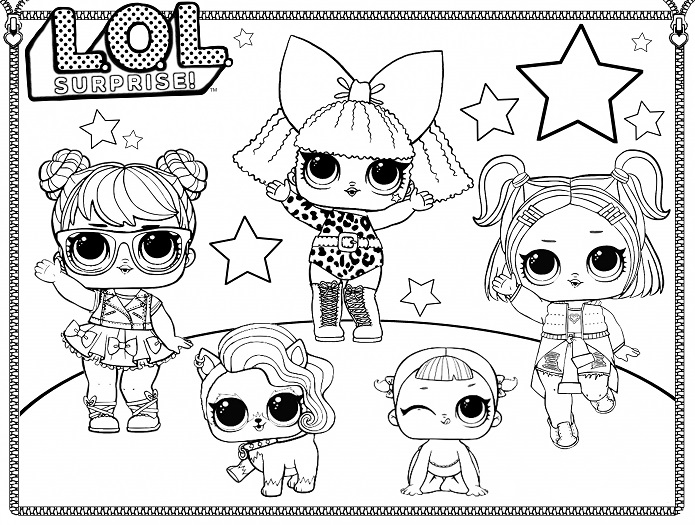 LOL Surprise Dolls Coloring Pages | Free Printable Coloring Page